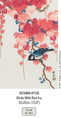 Birds with Red Ivy